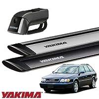 [YAKIMA 正規品] アウディ A6/S6ワゴン 4A系 1994-97年式 ルーフレール付き車両に適合 ベースキャリアセット (ティンバーライン・ジェットストリームバーS) ブラック