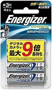 Energizer(エナジャイザー) リチウム乾電池単3形 4本入 LIT BAT AA 4PK