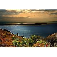 海岸のボート - #16863 - キャンバス印刷アートポスター 写真 部屋インテリア絵画 ポスター 50cmx33cm