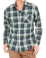 (トップイズム) TopIsm チェックシャツ メンズ メンズ マドラスチェック柄 長袖 シャツ