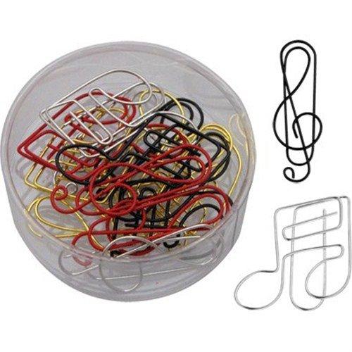 ペーパークリップ: 色とりどりのト音記号や音符の形のクリップ