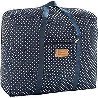 OUNONA 大型バッグ 布団袋 荷物袋 大容量 収納袋 オックスフォード製 青 Lサイズ