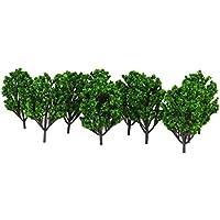 【ノーブランド品】樹木 木 モデルツリー 高さ10cm 6色 鉄道模型 ジオラマ 10本セット (No.2)