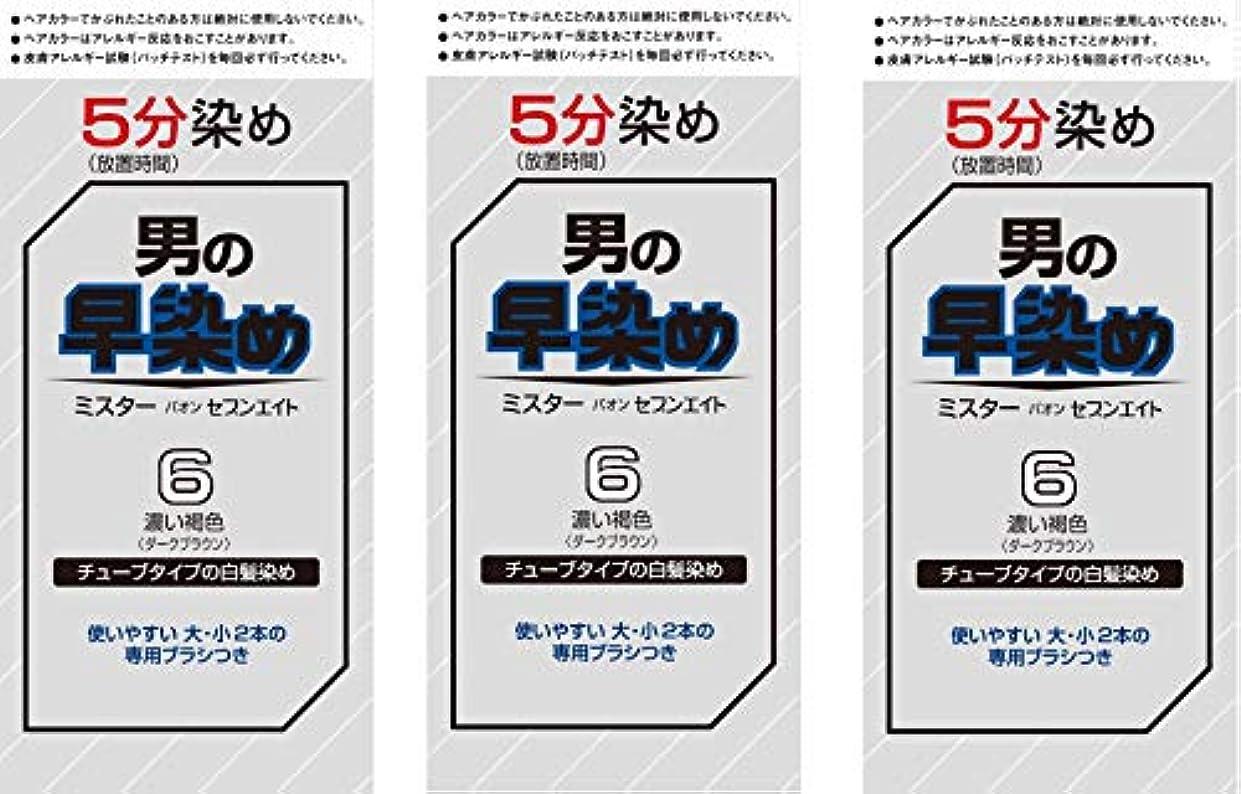 ランク粘着性せせらぎ【Amazon.co.jp限定】 ミスターパオン セブンエイト 6 濃い褐色 3個パックおまけ付き[医薬部外品] ヘアカラー 6濃い褐色 セット (40g+40g)×3+おまけ