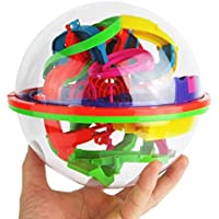 (Multicolor) - Puzzle Toy,100 Barriers 3D Labyrinth Magic Intellect Ball Balance Maze Perplexus Puzzle Toy By Dacawin (Multicolor)