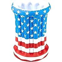 American Flag Patriotic Inflatable Cooler Costume Accessory [並行輸入品]