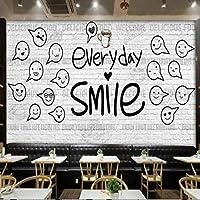 Mingld 壁のための3D壁紙家の改善現代の壁紙白レンガの壁バーコーヒーショップの壁紙-250X175Cm