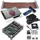 Kuman Raspberry Pi用3.5インチ ディスプレイ タッチパネル タッチスクリーン 冷却ファンとヒートシンク 保護ケース 320*480 解析度 Raspberry Pi2 / Pi3用タッチスクリーンTFTモニタセット(3.5インチ) タッチパネル+タッチペンRaspberry Pi B/B+/A+/Pi 2 も適応