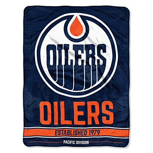 The Northwest会社正式ライセンスNHL Edmonton Oilers Breakaway Micro Raschel Throw Blanket 46