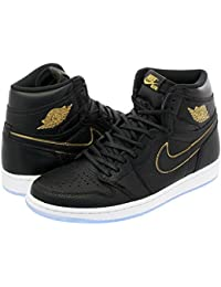 [ナイキ] NIKE AIR JORDAN 1 RETRO HIGH OG BLACK/METALLIC GOLD/SUMMIT WHITE 【LA】 [並行輸入品]