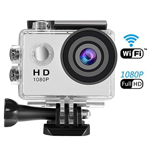 SENDOW アクションカメラ wifi対応 1080P高画質 30FPS 160万画素 ウェアラブルカメラ 防水 コンパクト 170度広角 30m防水 水中撮影 サイクリング 撮影入門者向け