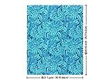 青のハワイアンファブリック プルメリア総柄 fab-2631BL 【ハワイ生地・ハワイアンプリント】