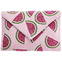 From St Xavier Women's Juicy Pouch Clutch, Pink/Green, One Size