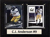 "NCAA California Golden Bears Men 's C・J・アンダーソン2つカードプラーク、ブラウン、6"" x8"""