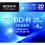 SONY ビデオ用BD-R 1回録画用 片面1層25GB 4倍速 ホワイトプリンタブル 20枚パック 20BNR1VGPS4