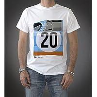 Original Race(オリジナル レース) ポルシェ917 Tシャツ PTU-917 20-W 半袖 メンズ スティーブ・マックイーン 栄光のル・マン GULF ホワイト XLサイズ