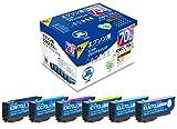 ジット EPSON(エプソン)  IC6CL70L 増量 6色セット対応 リサイクル インクカートリッジ JIT-E70L6P 日本製