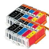 CANON BCI-371XL+370XL/5MP×2(5色セット×2パック) キヤノン互換 ICチップ付き BCI-370XLPGBK(顔料) BCI-371XLBK BCI-371X LC BCI-371XLM BCI-371XLY 対応機種:PIXUS MG7730F PIXUS MG7730 PIXUS MG6930 【むさしのメディアオリジナル・FFPパッケージ】