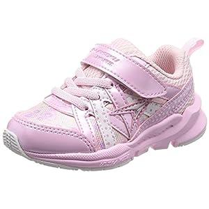 [シュンソク] 運動靴 通学履き 瞬足 幅広 衝撃吸収 高反発 15~23cm キッズ 女の子 ピンク 17 cm 3E