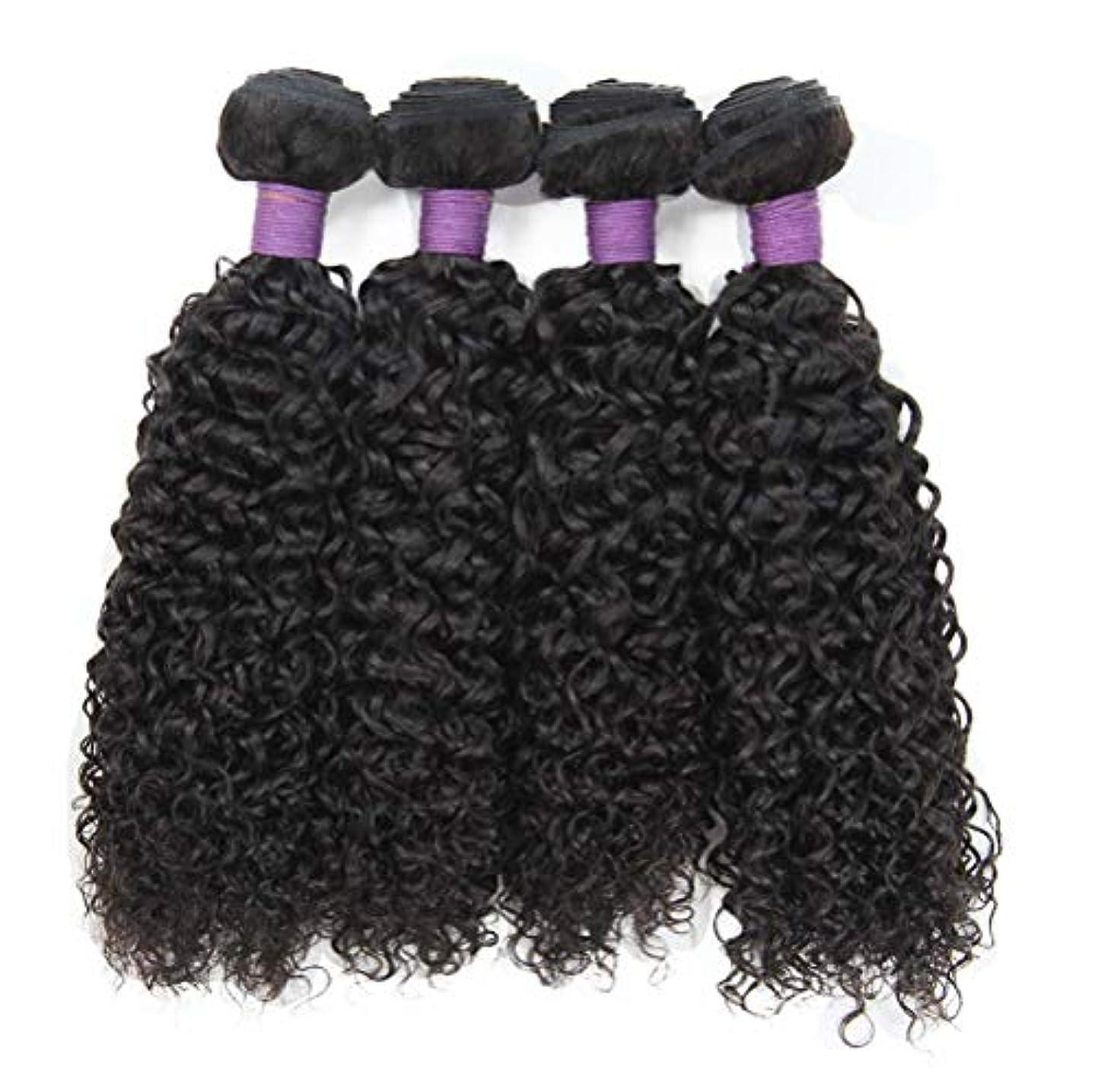 キャリッジ建設避難する女性130%密度髪織りブラジルの水の波髪1バンドル未処理のバージン人毛エクステンションブラジルの髪