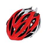 [AMANGU] 自転車 ヘルメット 大人用 高剛性 快適 超軽量 サイズアジャスター付き 頭囲56〜62CM クロスバイク マウンテンバイク 通勤 通学 スポーツバイク アウトドア レッド