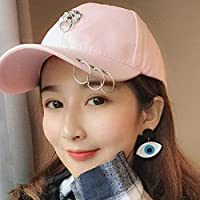 Chuiqingwang 人々の流入、ストリート野球帽、女性のヒップホップ、カジュアルベンド、韓国の日よけ、バイザー、パンク、ウィンドキャップ、男性 (Color : Animal head pink, サイズ : M)