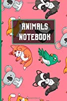 Animal Notebook: 6x9 I 120 checked pages I Skatchbook I Notebook I  Diary I Notepad for Animal and Nature fans