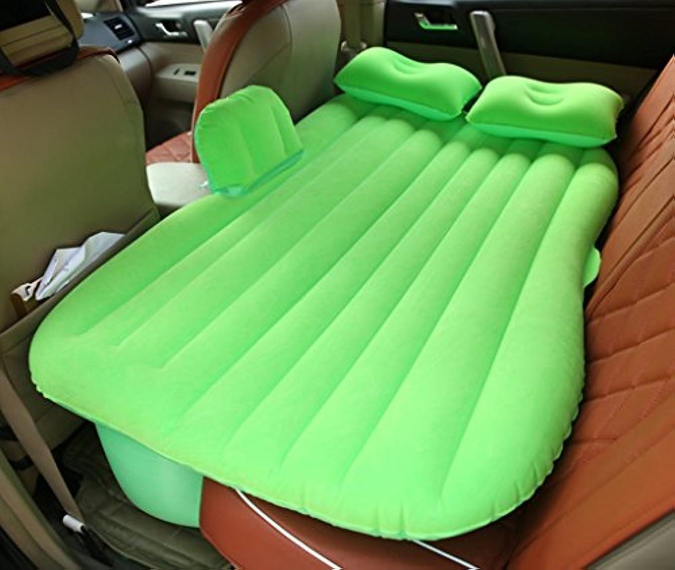 強制的シルエット考古学的なSUVエアベッド、GZD多機能インフレータブルカーマットレス後部座席クッションモーターポンプと2つの枕、ホーム、車、屋外キャンプユニバーサル、85 * 138センチメートル,Green