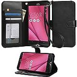 Asus ZenFone Go ZB551KLケース Vikoo ZenFone Go ZB551KLスタンドカバー 横開き 手帳型 PUレザー 保護ケース (5.5, ブラック)