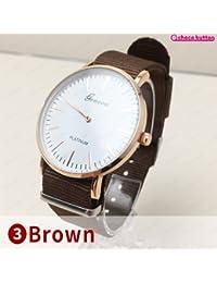 coloreborn-watch レディース 腕時計 ファッションアイテムレディース 腕時計 (3 Brown)