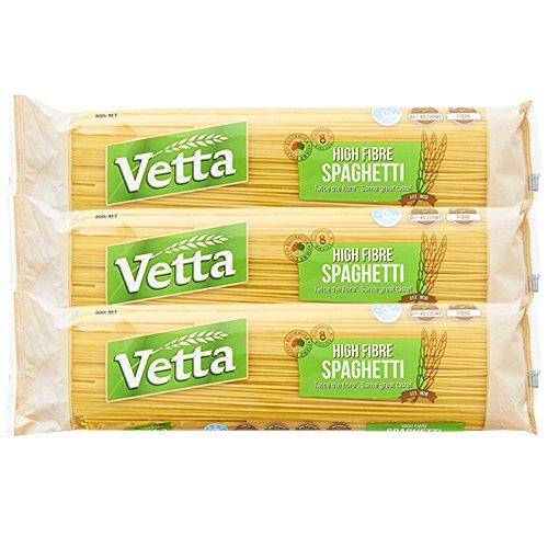 Vetta(ベッタ) 低GIハイファイバースパゲッティ (1.5mm) 500g×3個