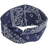 Sanwooden Elegant Headband Boho Printing Pattern Headband Hairband Women Girls Soft Hair Decor Headwear Hair Ornaments