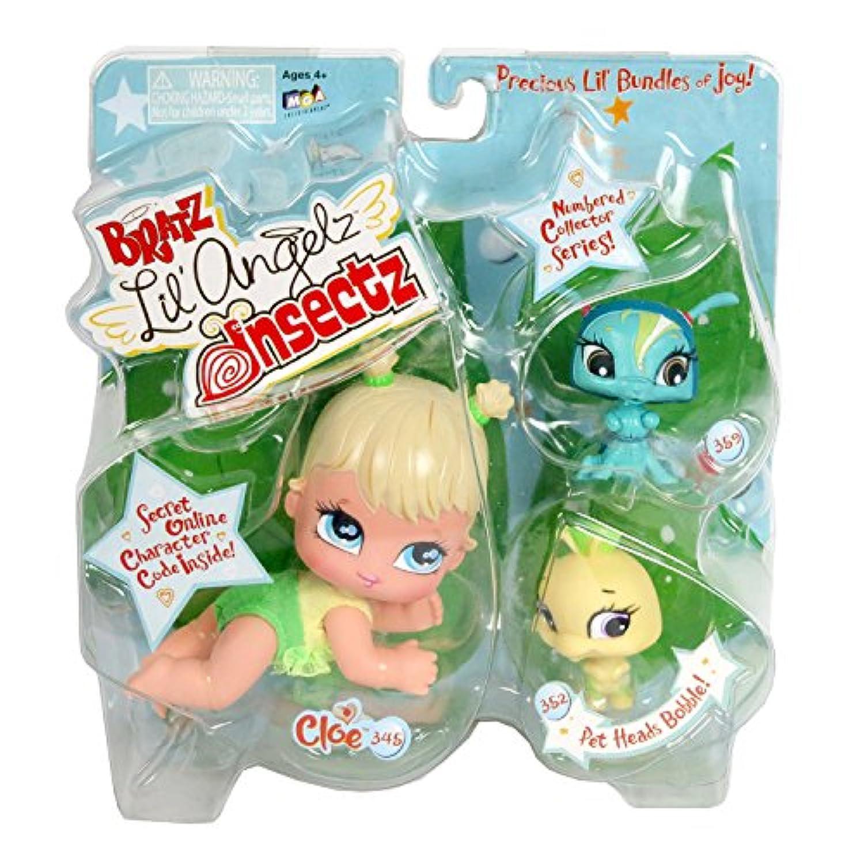 MGA EntertainmentブラッツLil Angelz Insectzシリーズ4インチ人形with 2ペットセット – Cloe ( # 345 )、イエローCaterpillar ( # 352 )と緑Ant ( # 359 )