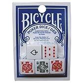 BICYCLE(バイスクル) ポーカーダイス 5個セット