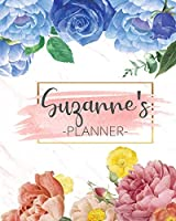 Suzanne's Planner: Monthly Planner 3 Years January - December 2020-2022 | Monthly View | Calendar Views Floral Cover - Sunday start