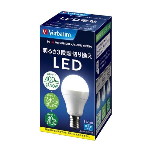 三菱化学メディア Verbatim LED電球 一般電球タイプ 口金E17 ...