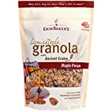 Erin Baker's Homestyle Granola, Maple Pecan, Gluten-Free, Ancient Grains, Vegan, Cereal, 12-ounce bag