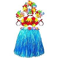 ウェディングフラワーガールドレススカートハワイアンスカートブライトスカートブルー