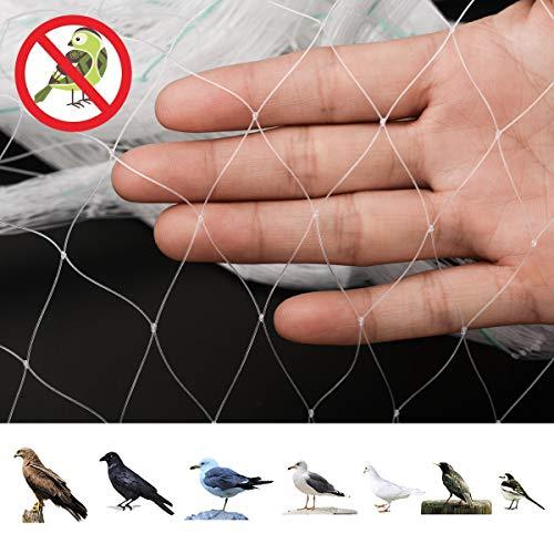 防鳥 ネット ベランダ 幅3m×長さ7m 防鳥網 透明色 鳥よけネット 防鳥防獣網 鳥害対策 猫侵入脱走防止 鳩対策 結束バンド20本付き 果樹守りや野菜栽培