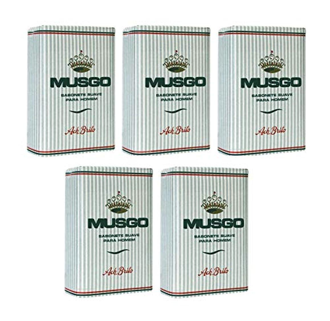 価格直感大西洋Musgo Real Body Soap 「ロイヤルモス」 ボディソープバー 160g x 5個 [並行輸入品]