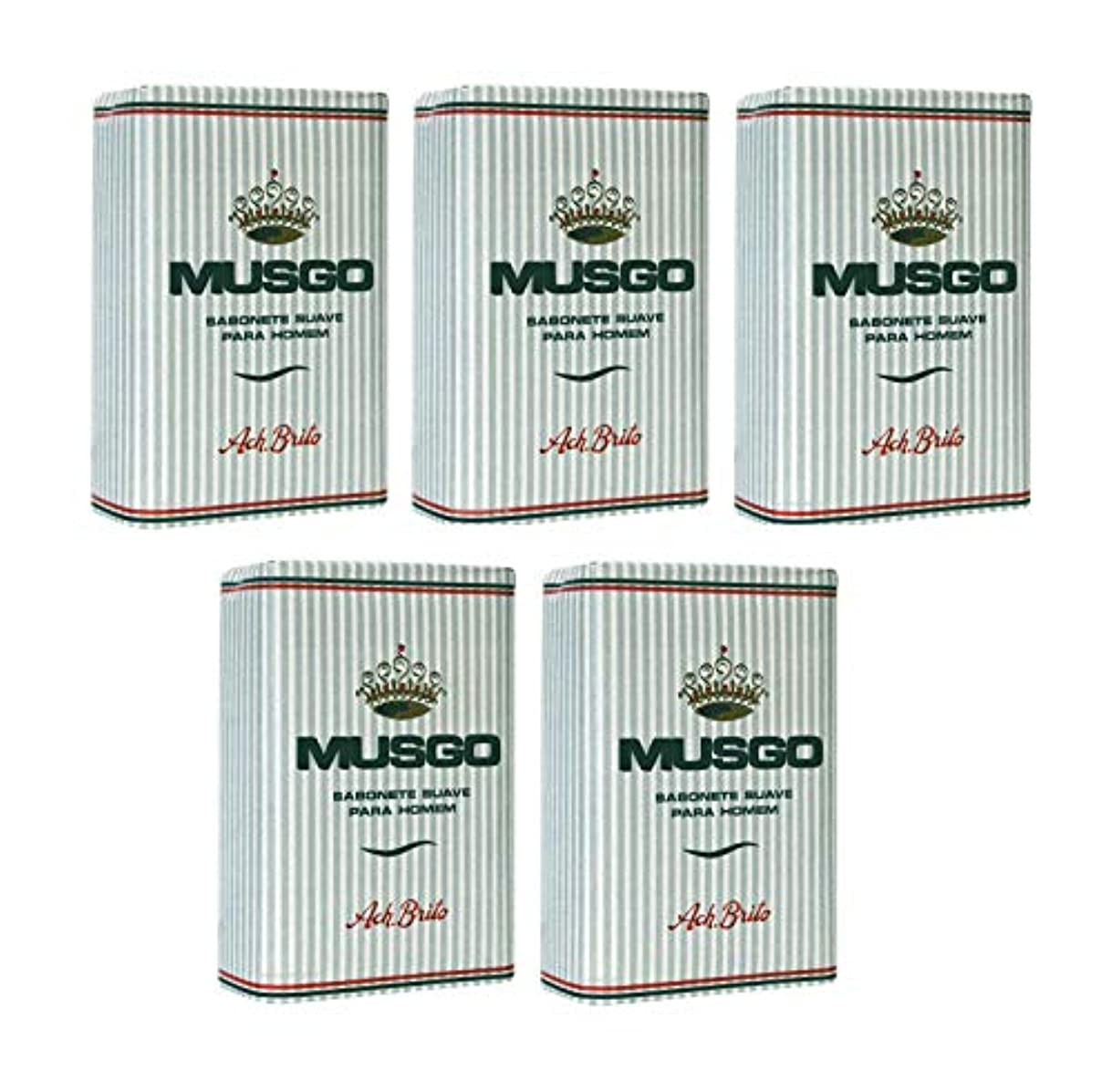 鎮静剤ピクニックをする泣くMusgo Real Body Soap 「ロイヤルモス」 ボディソープバー 160g x 5個 [並行輸入品]