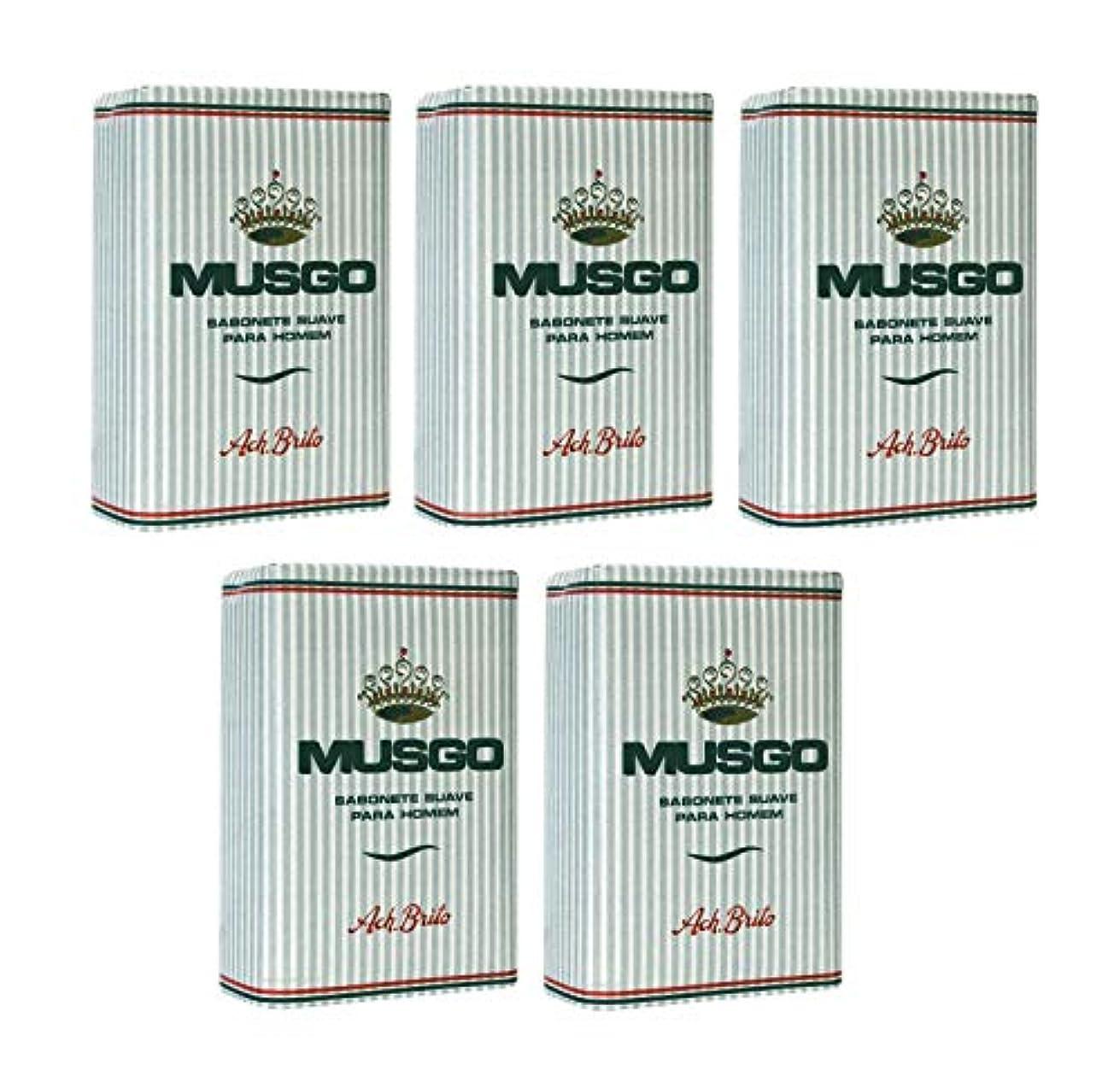 にやにやスラム街続編Musgo Real Body Soap 「ロイヤルモス」 ボディソープバー 160g x 5個 [並行輸入品]