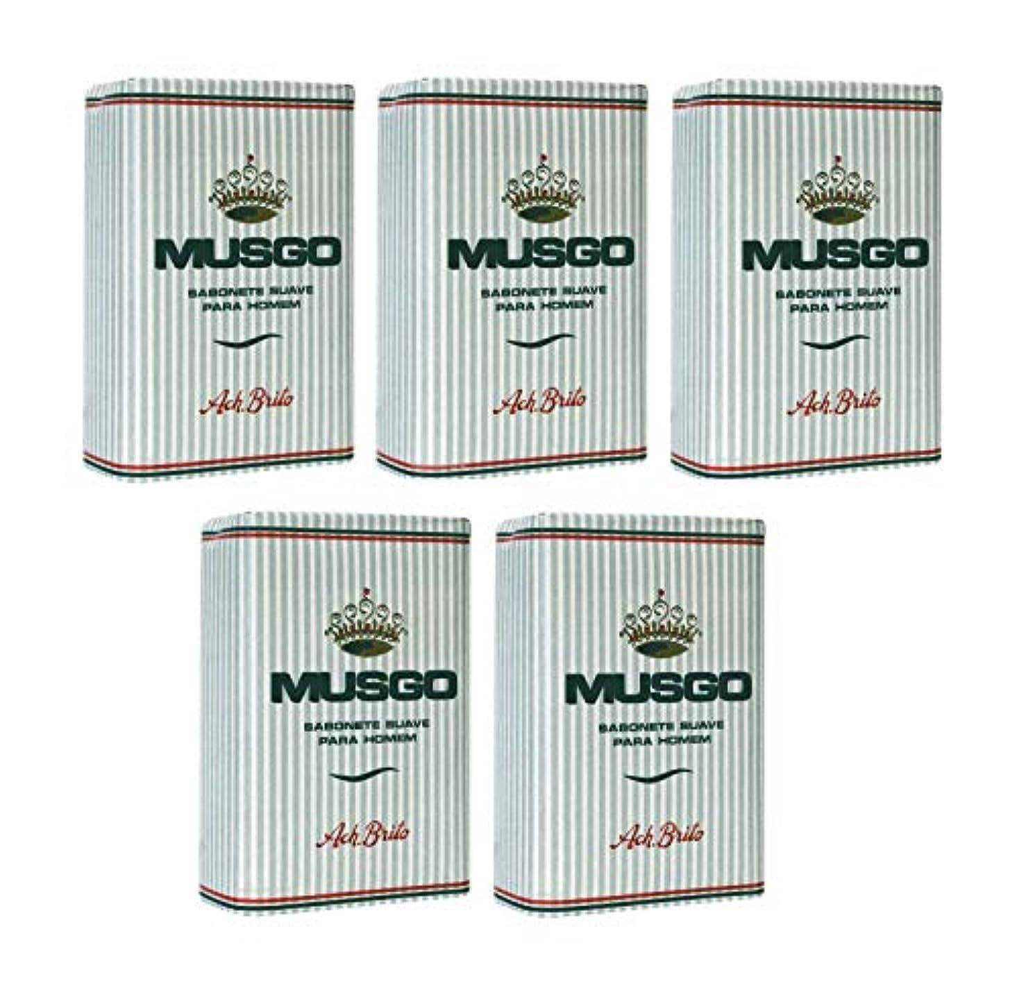 理解アンデス山脈嫌いMusgo Real Body Soap 「ロイヤルモス」 ボディソープバー 160g x 5個 [並行輸入品]