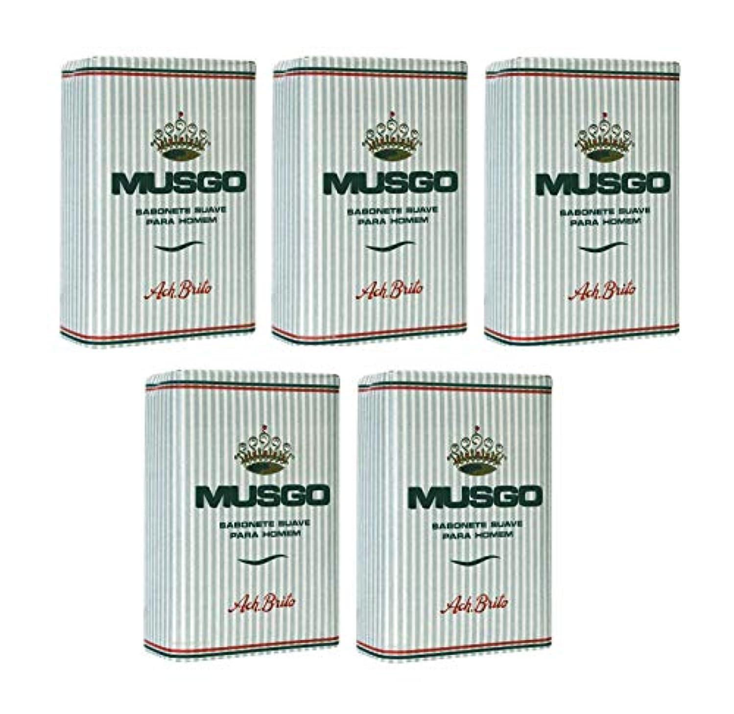 アトミックビタミン行為Musgo Real Body Soap 「ロイヤルモス」 ボディソープバー 160g x 5個 [並行輸入品]
