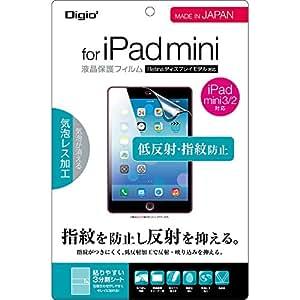 iPad mini 3 / mini 2 / mini 用 液晶保護フィルム 低反射 指紋防止 気泡加工 TBF-IPM13FLGS
