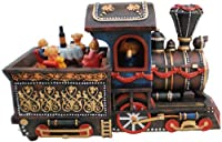 オルゴール王国14202「チャタヌーガチューチュー」を演奏する熊オルゴール付き機関車