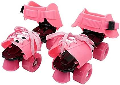 ローラースケート 子供用 着脱/調節可能 キッズ 桃/ピンク 幼児 児童 男の子 女の子 ジュニア/_85297