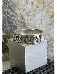 指輪 ココペリ シルバーリングFリングサイズ22号