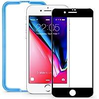 ESR iPhone8 Plus / 7 Plus ガラスフィルム 全面 フルカバー 【パネルカラー自由変化】 アイフォン 8 / 7 Plus 高品質 5.5インチ 強化ガラス 全面保護フィルム 位置付けフレーム付属 / ケースに干渉せず (iPhone 8 Plus / 7 Plus ガラスフィルム;ブラック)