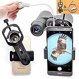 ユニバーサル 携帯電話のアダプタマウント は - iPhoneのソニーサムスンモト用など - 両眼単眼スポッティングスコープ望遠鏡と顕微鏡との互換性の世界の自然を記録します フィット接眼レンズ径23mm-44mm - 高度なプラスチック材料 (スマートフォン用アダプター & シャッターワイヤー)